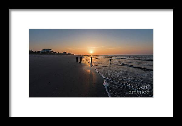 Sunrise Framed Print featuring the photograph Folly Gold by Robert Loe