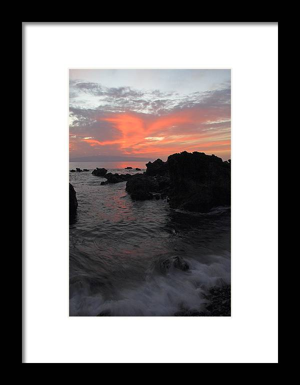 Seascape Framed Print featuring the photograph Fonsalia Red by Phil Crean