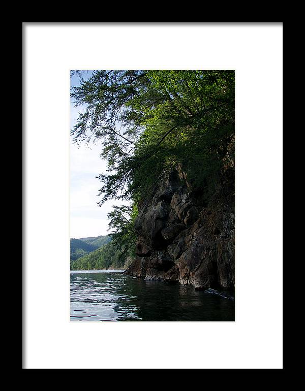 Rocks Framed Print featuring the photograph Fontana Cliff by Jessica Breen