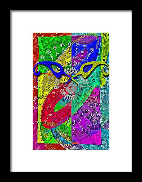 Font Framed Print featuring the digital art Fontart Series Cosmic Attraction by Edwin Loyola