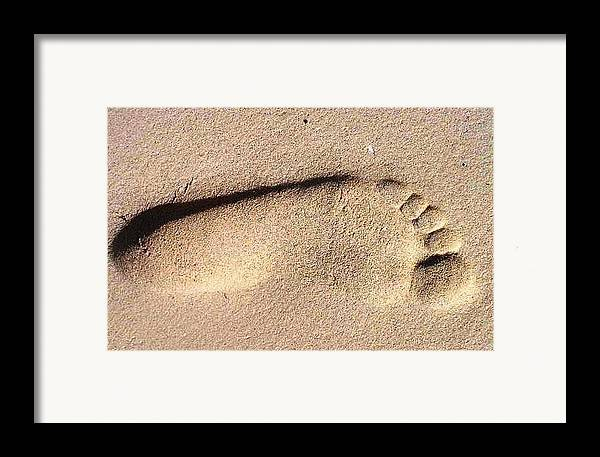 Photography Framed Print featuring the photograph Foot by Katina Cote