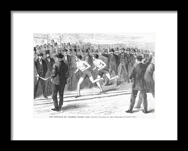 1868 Framed Print featuring the photograph Foot Race, 1868 by Granger