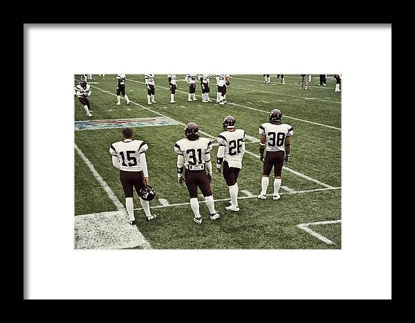 Football Framed Print featuring the photograph Football by Wes Shinn
