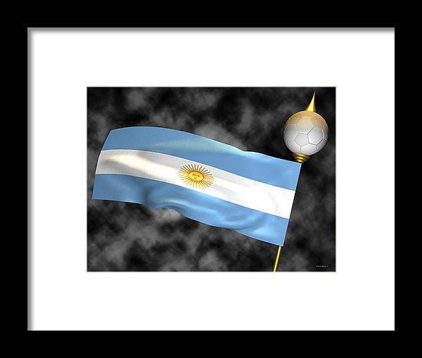 Fifa Framed Print featuring the photograph Football World Cup Cheer Series - Argentina by Ganesh Barad