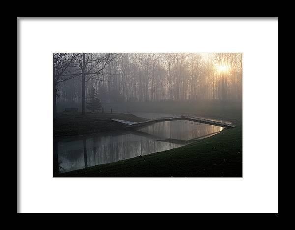 Bridge Framed Print featuring the photograph Footbridge by David Arment