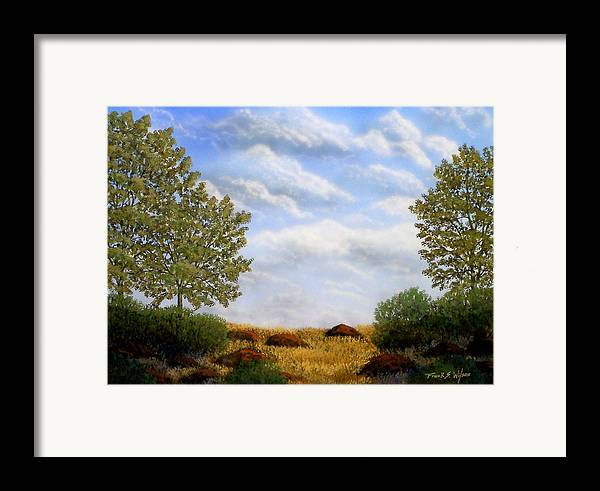 Landscape Framed Print featuring the painting Foothills Afternoon by Frank Wilson