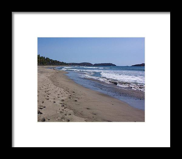 Ocean Framed Print featuring the photograph Footprint In The Sand by James Johnstone