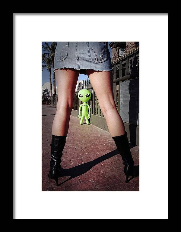 Alien Framed Print featuring the photograph For Alien Eyes Only by Richard Henne
