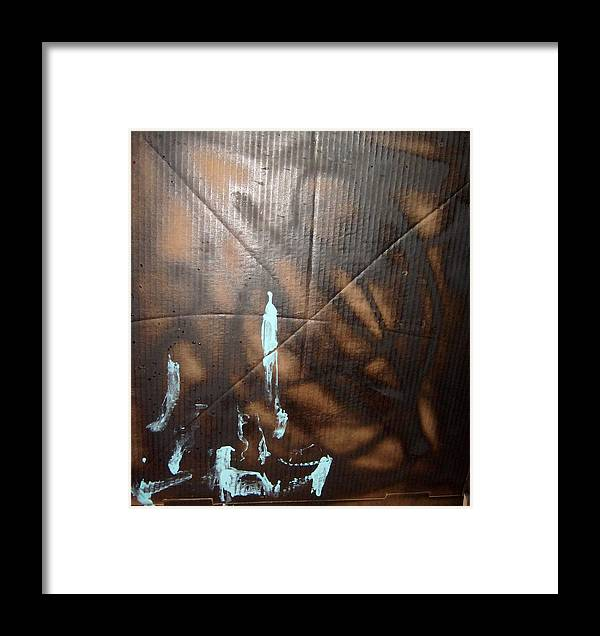 Dark Framed Print featuring the painting For Animals And People Without Electricity by Bruce Combs - REACH BEYOND