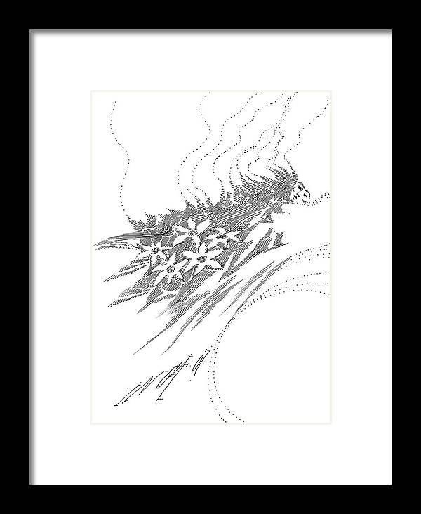 Figurative Framed Print featuring the drawing For Ever And Ever by Inga Vereshchagina