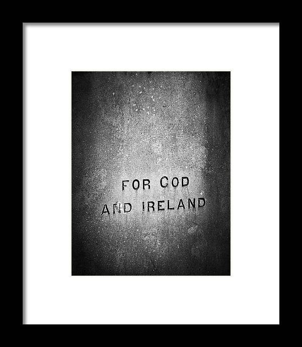 Irish Framed Print featuring the photograph For God And Ireland Macroom Ireland by Teresa Mucha