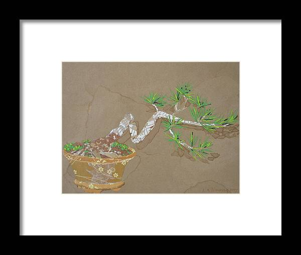 Banzai Tree Framed Print featuring the painting For Inge by Leah Tomaino