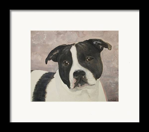 Dog Framed Print featuring the painting For Me by Ally Benbrook