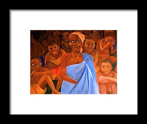 Portrait Framed Print featuring the painting For Sale by Alima Newton