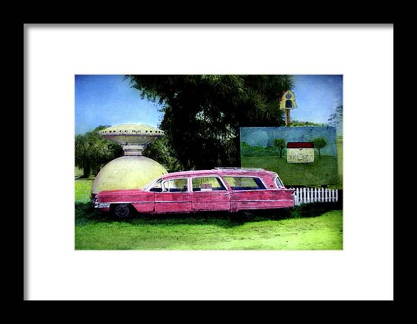Space Ship Framed Print featuring the photograph For Sale by Joe Hoover