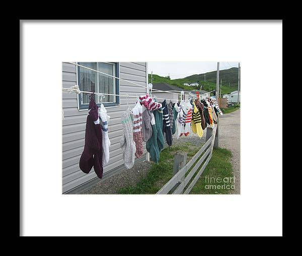 Knitted Socks Newfoundland Framed Print featuring the photograph For Sale by Seon-Jeong Kim