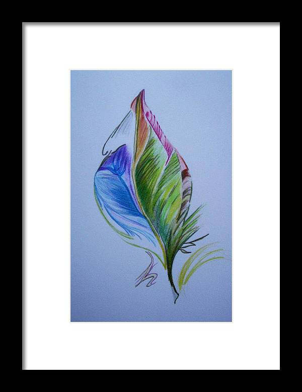 Abstract Framed Print featuring the drawing For Starters by Suzanne Udell Levinger