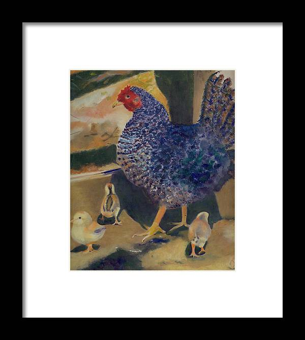 Animal Framed Print featuring the painting For The Birds by Paula Emery