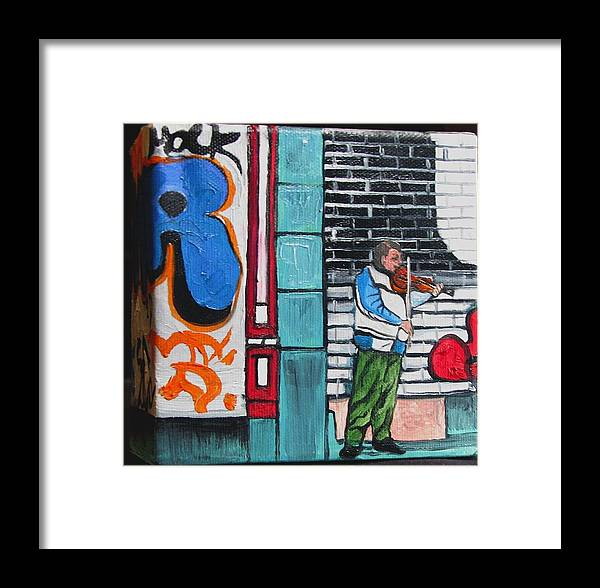 Gaffitti Art Framed Print featuring the painting For The Love Of Music by Patricia Arroyo