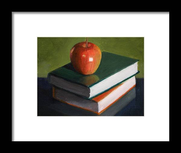 Still Life Framed Print featuring the painting For The Teacher by Becky Alden