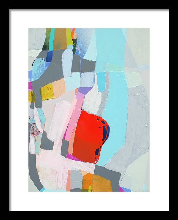 Abstract Framed Print featuring the painting For What You Are by Claire Desjardins