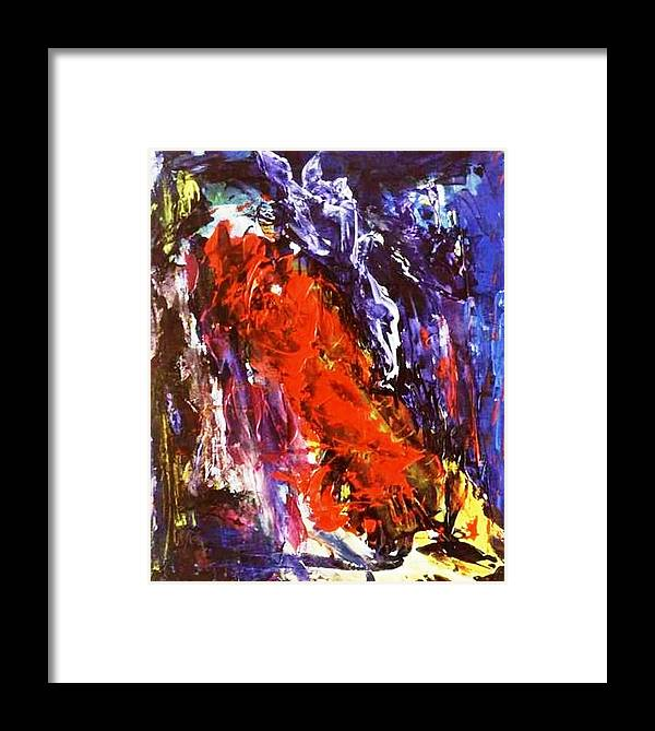 Clif Framed Print featuring the painting For William Blake by Bruce Combs - REACH BEYOND