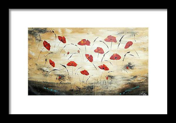 Painting Framed Print featuring the painting For You by Ilonka Walter