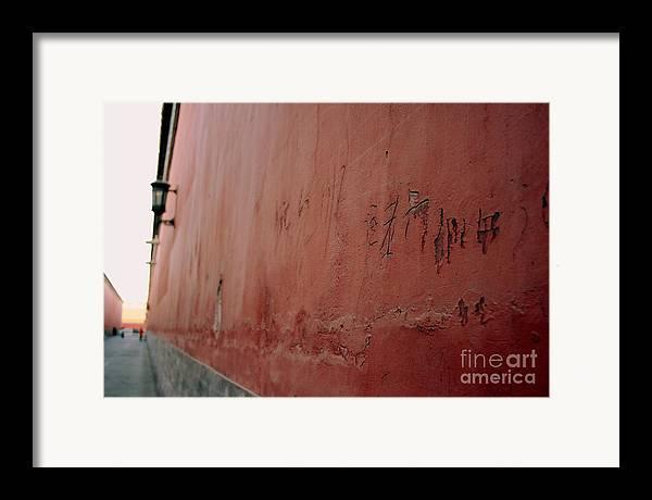 Graffiti Framed Print featuring the photograph Forbidden Graffiti by April Holgate