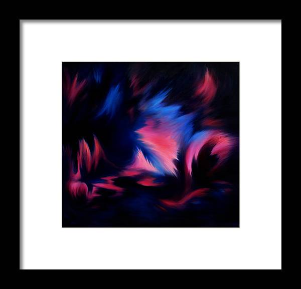 Abstract Framed Print featuring the painting Forbidden Words by William Russell Nowicki