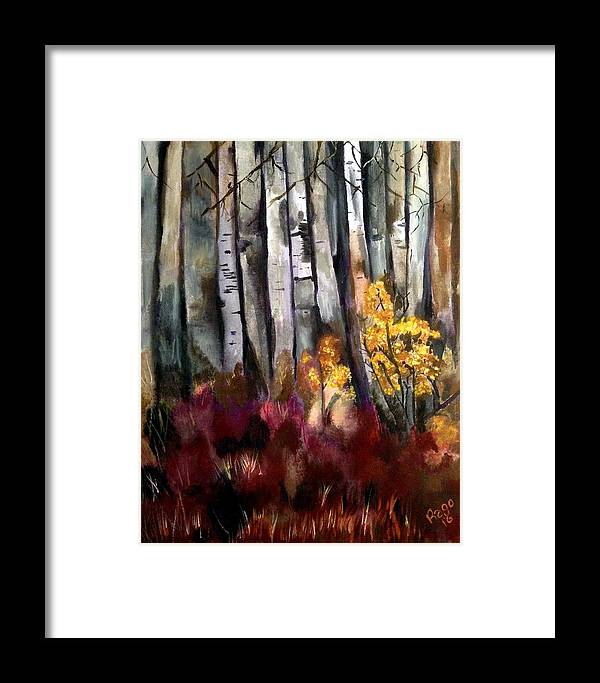 Landscape Framed Print featuring the painting Forced Forsythia by Sylvia Rago