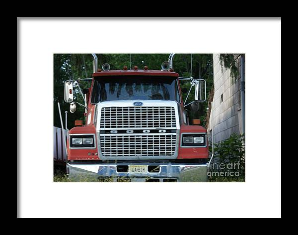 Ford Framed Print featuring the photograph Ford 9000 Power And Confort... by Rob Luzier
