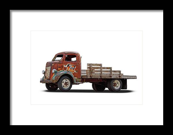 Ford Framed Print featuring the photograph Ford Classic 7 Up Truck by Nick Gray