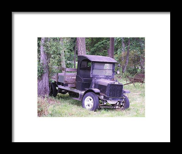 Ford Truck Framed Print featuring the photograph Ford Flatbed by Gene Ritchhart