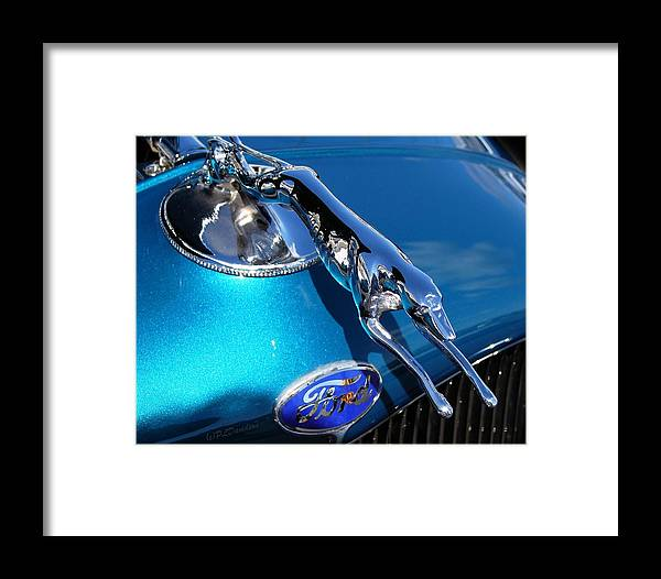 Classic Cars Framed Print featuring the photograph Ford Greyhound Hood Ornament by Patricia L Davidson