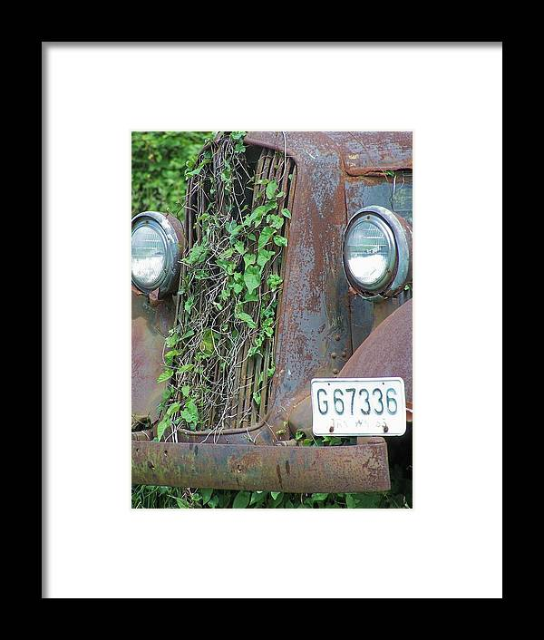 Ford Framed Print featuring the photograph Ford Grill by Gene Ritchhart