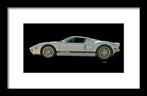 Ford Gt Framed Print featuring the photograph Ford Gt 3 by Larry Linton