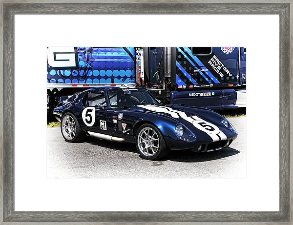 Ford Framed Print Featuring The Photograph Ford Gt Factory Five Racing By Mike Martin