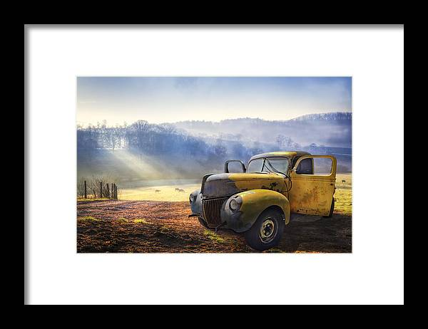 Appalachia Framed Print featuring the photograph Ford in the Fog by Debra and Dave Vanderlaan