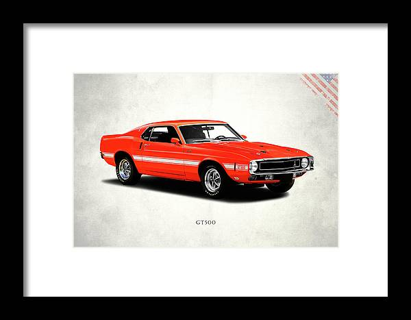 Ford Mustang Shelby Gt500 1969 Framed Print by Mark Rogan