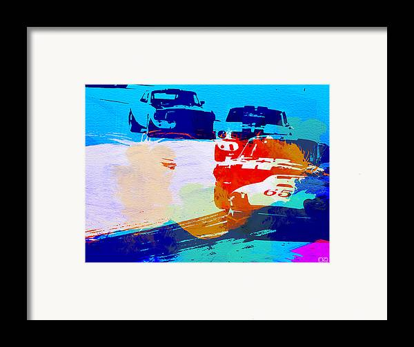 Ford Mustang Framed Print featuring the photograph Ford Mustang Watercolor by Naxart Studio