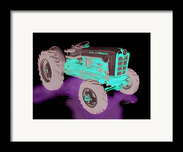Ford Tractor Framed Print featuring the painting Ford Tractor by Ferrel Cordle