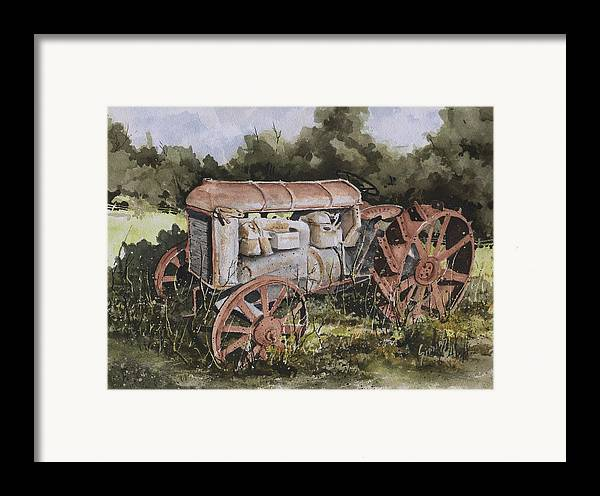 Farm Framed Print featuring the painting Fordson Model F by Sam Sidders