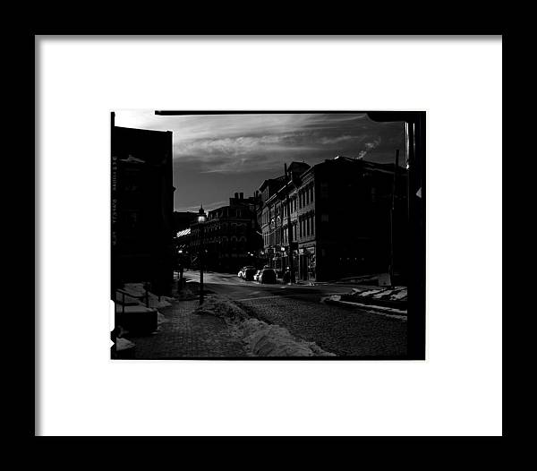 Black And White Framed Print featuring the photograph Fore Street by Filipe N Marques