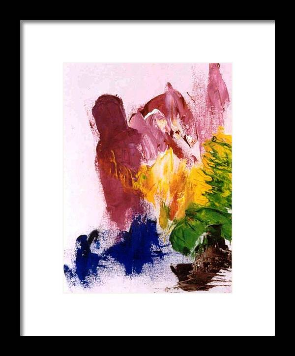 Colors Framed Print featuring the painting Foreboding by Bruce Combs - REACH BEYOND