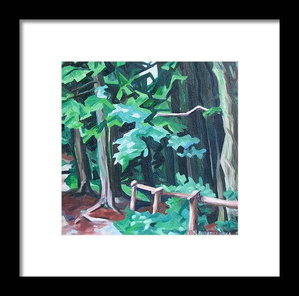 Landscape Framed Print featuring the painting Forest 1 by Nel Kwiatkowska