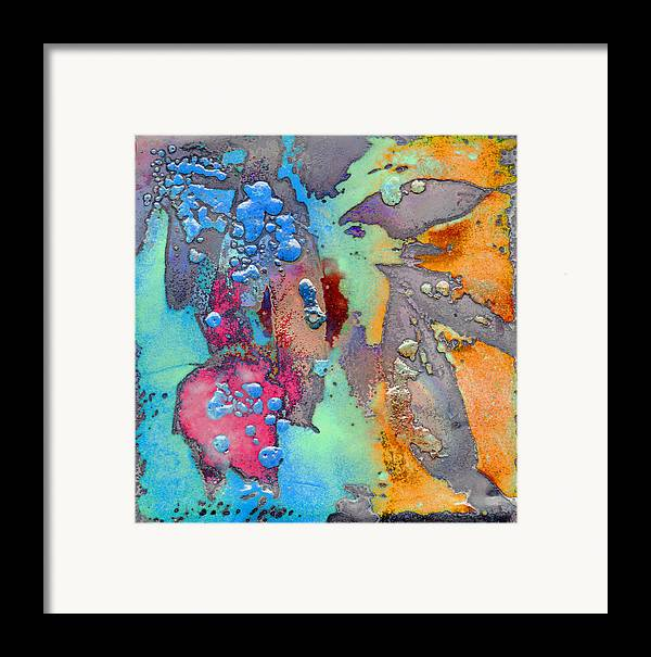 Copper Framed Print featuring the painting Forest Beneath Us by Jude Lobe