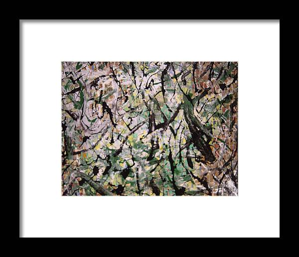 Framed Print featuring the painting Forest by Biagio Civale