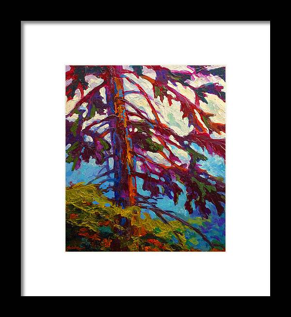 Trees Framed Print featuring the painting Forest Elder by Marion Rose