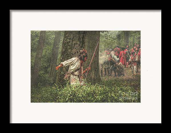 War Framed Print featuring the digital art Forest Fight by Randy Steele