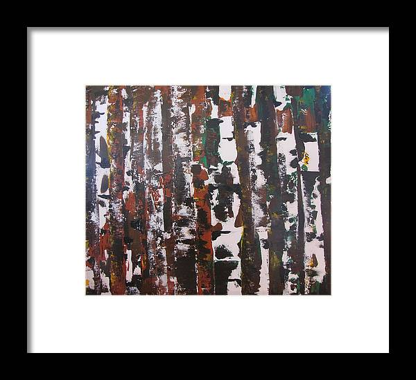 Abstract Framed Print featuring the painting Forest For The Trees by Gary Smith